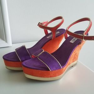 JLO Multicolored Platform Wedges